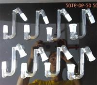 10 styles verre bong baisse 14,4 18,8 mâle femelle 14mm 18mm femelle mâle convertisseur 30 45 degrés angle verre dropdown