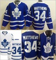 New Maple Leafs Jerseys #34 Matthews Jersey 2016 Draft Hocke...