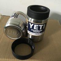 На складе Рамблер массажер 12 унций YETI Чашки Автомобили кружкой пива большой емкости Кружка чашки Yeti полный стакан