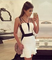 White Party Dresses Slash Neck White Cocktail Dresses Sleeve...