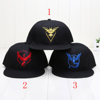 Hot poke Team Valor Black Hat game fun Cap cosplay Halloween...