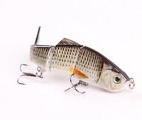 2016 Оптовая 12 см рыболовных приманки рыболовные приманки многосекционной приманки наживки разделов Lifelike Crank Bait 3D-очки рыболовные инструменты с двойными крючками