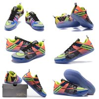 (With shoes Box)Hot Sale Kobe 11 LOW Multicolor Tinker Hatfi...