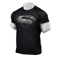 Wholesale- 2016 Men' s NEW Superman Gym Singlets t- shirt B...