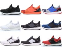 Free Shipping 2017 Boost White Black Mens Athletic Shoes Men...