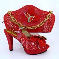 New Arrival Fashion Rhinestone Beautiful Shoes And Bag Set I...