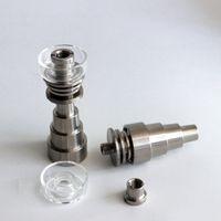 Domeless Titanium ongles avec des clous Quartz Cap Banger Titanium 10/14 / 18MM 6 Dans des bongs en verre