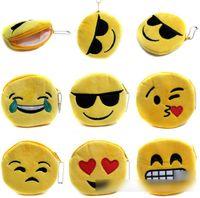10 Design QQ Expression Coin Purses Cute Emoji Coin Bags Plu...