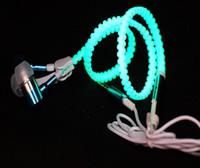 nouveaux écouteurs stéréo casque lumineux Light Metal Zipper lumière basse en métal Casque avec micro 3,5 mm Cremallera de métal