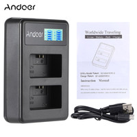 Andoer NP-FW50 recarregável Display LED Li-ion Battery Charger Pack 2-Slot Kit cabo USB para Câmera Digital SLR D3904