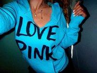 New Women Hoodies Autumn Sportswear Love Pink Letter Print C...
