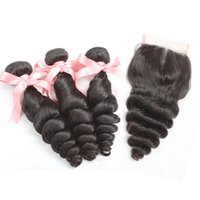 Peruvian Brazilian Virgin Hair Extensions Loose Wave 1pc Mid...