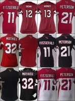 Women Ladies Football Stitched Cardinals 11 Fitzgerald 12 Be...