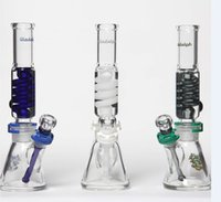 Nouveau design illadelph bongs verre beaker 2 pièces verre tubes d'eau plate-forme pétrolière avec clips 14 mm joint