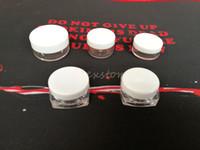 Plastique rond récipient de cire et de forme carrée 3g 5g 10g forment des récipients en silicone box cas de maquillage clair dab dabber DHL