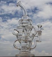 Style FTK big size bong nouveau design creux en verre recycler verre bong DK marque tuyau d'eau avec pneus perc vortex étonnant