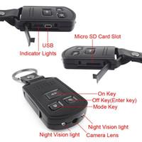 10pcs 1920 Full Body * 1080P Métal HD Mini Key Caméra voiture caméra à distance DVR détection de mouvement caméra de vision nocturne
