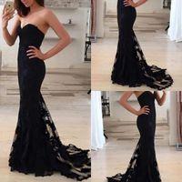 Mermaid Wedding Dresses Black Lace Charming Brides Dresses S...