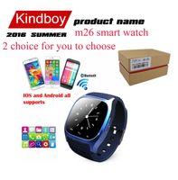 2016 Bluetooth Smart Montres M26 Montre pour iPhone Samsung HTC téléphone Android santé smartwatch femme 3g regarder gratuitement le téléphone DHL VS DZ09 U8