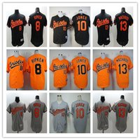 Baltimore Orioles Mens Baseball Jersey #10 Adam Jones #13 Ma...