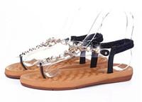 summer styles women sandals 2016 female channel rhinestone c...