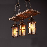 Vintage American Country Style Lighting Fixture Bar Coffee H...