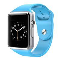 A1 montre intelligente bluetooth smart wristband coloré montre Apple montre carte SIM et carte TF Livraison gratuite