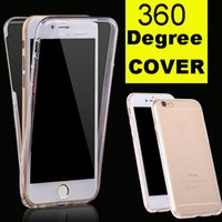 Pour iphone 7 plus de 360 degrés Full Cover souple TPU Façade Arrière Transparent Pour Iphone 6 6s Plus DHL SCA111 gratuit