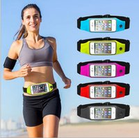 Running Waist bag Unisex Waterproof Universal Pocket Sport B...