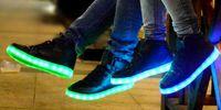 LED luminous shoes unisex sneakers men & women designer snea...