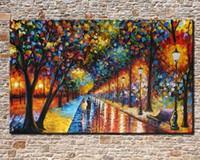 Мастихином Park Street, Pure Ручная роспись Современный домашний декор Мультфильм Арт картина маслом на размер Canvas.customized принят, али-прекрасный