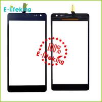 Dernières complète Nouveau Prix de gros 100% travaillant écran tactile de remplacement numériseur bien noir pour Nokia Lumia 535 shiphing libre et le suivi NO