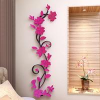 1 Pcs 3D DIY Removable Romantic Rose Flower Acrylic Crystal ...