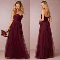 Burgundy Bridesmaid Dresses Long 2016 New Arrival Sweetheart...