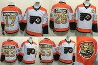 2016- 2017 Mens 50th Anniversary Flyers Hockey Jerseys 28 Cla...