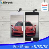 Grade AAA Aucun écran Pixel mort pour iPhone 5 5S 5C écran LCD Touch Digitizer Cold Press Cadre de l'Assemblée Tianma Qualité Livraison gratuite