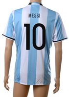 16- 17 New Argentina 10 Messi Soccer Jersey Thai Quality Socc...