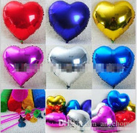 wholesales 18 inch heart shape Helium Foil balloon cartoon b...