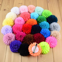 30 Color Girl pinkycolor flower hairpins Barrettes 7CM child...