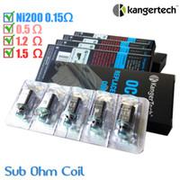 100% d'origine Kanger OCC remplacement Coil core amélioré Ni200 0.15ohm sous ohm Kangertech Subtank clearomizer verticales double Bobines atomiseur DHL