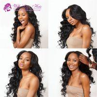 Unprocessed Malaysian Virgin Human Hair Full Lace Wigs Deep ...