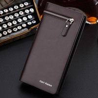 Hot sale men big space wallets suit for cards, money, mobile a...