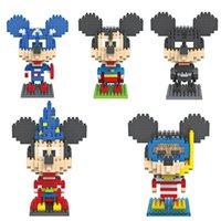 iblock Fun LOZ diamant Blocks Mickey Mouse Batman, Superman, capitaine, magicien, plongeur Minifigura Micro Blocks Mini Building Block