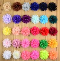 New Chiffon Flores para o bebé Cabeça de Flor Headwear meninas acessórios de cabelo tecido chiffon Flores Com cocar infantil 2440