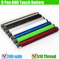 Top qualité Bud toucher batterie Colorful 280mAh 510 discussion atomiseurs O Pen CE3 CDB huile épaisse épaisse Waxy fumeurs cire Réservoir mini-e cig Vapor DHL