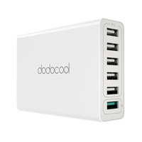 dodocool 58W 6-Port Desktop ricarica USB Power Adapter stazione del caricatore parete con Quick Charge 3.0 per DA102 Devices US Plug USB-powered