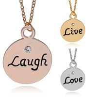 3 pcs / set Les meilleurs amis pour 3 vivent le rire d'amour La lettre timbrée par la main gravent la famille de charme Collier pendentif