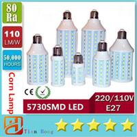 Led Corn Lights E40 B22 E27 SMD 5730 High Power 30W 40W 50W ...