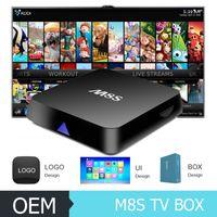 Online M8S Android TV Box Kodi 16. 0 customzid Android 4. 4 Ki...