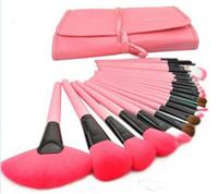 Por cepillos del maquillaje 24Pcs precio barato Conjunto kit de cosméticos herramientas del maquillaje del cepillo del maquillaje con los cepillos del bolso de cuero compensar para usted